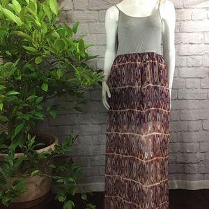 💙SALE! 3/$15 Long flowy maxi Aztec print dress XL